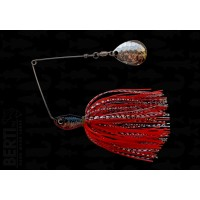 Bertilure Spinnerbait Colorado Deep Cup 11gr Skirt Siliconic Alb/Negru-Rosu