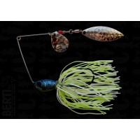 Bertilure Spinnerbait Colorado nr.2 Salcie nr.2 11gr Skirt Siliconic White Chartreuse Glitter