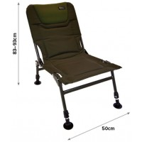 Scaun Carp Spirit Blax Low Chair, 50x83-93cm