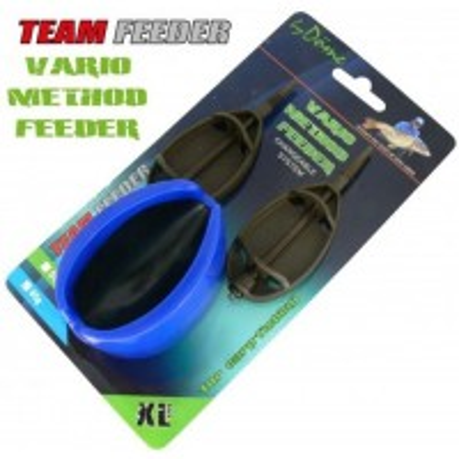 Set Method Feeder + Matrita Team Feeder Vario, Marime XL, 2+1buc/blister