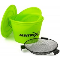 Set Nadire Matrix Fishing Lime Bucket, Galeata 20L + Capac + Lighean + Sita Ø=35cm