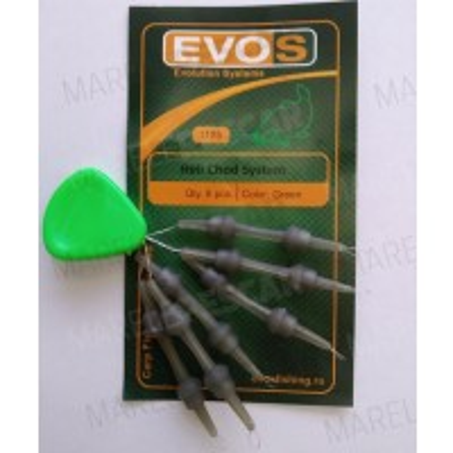 Sistem EVOS Heli Chod Rubber & Beads, 6buc/plic
