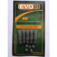 Sistem EVOS Helicopter Sleeves & Beads, 5buc/plic