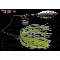 Spinnerbait Berti Shallow Killer Colorado Salcie, Alb/Chartreuse, 11g