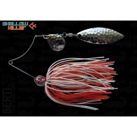 Spinnerbait Berti Shallow Killer Colorado Salcie, Alb/Rosu, 11g