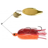 Spinnerbait Biwaa Dogon 3/4 oz, Red Tiger, Paleta Gold, 21g