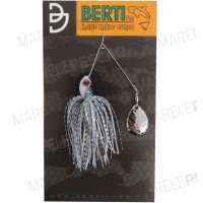 Spinnerbait cu Skirt Berti Colorado, Alb/Negru Pearl, 11g