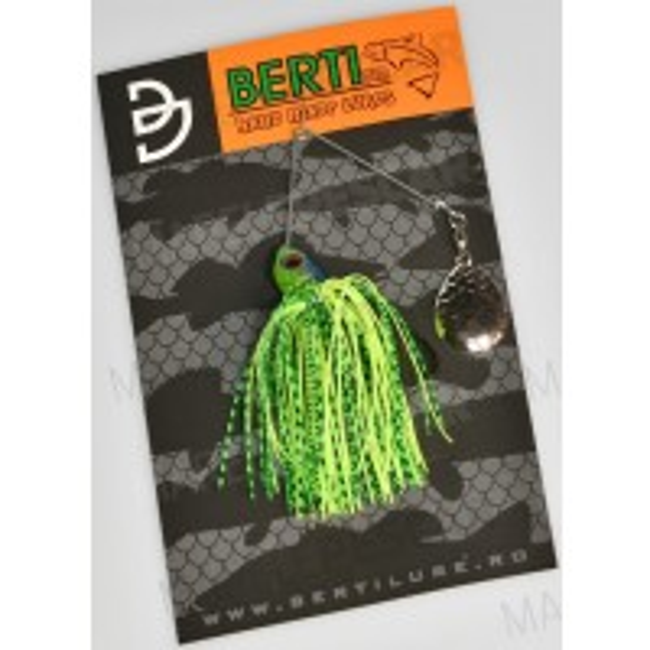 Spinnerbait cu Skirt Berti Colorado, Chartreuse/Limetiger, 11g
