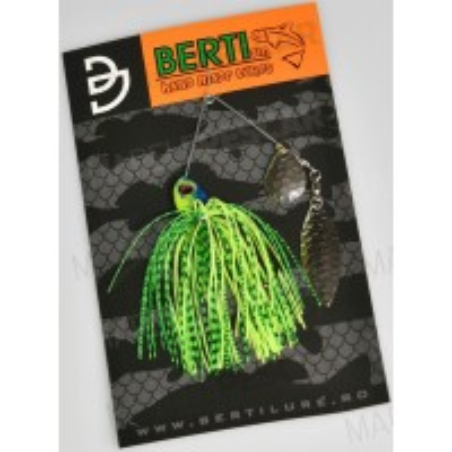 Spinnerbait cu Skirt Berti Colorado Salcie, Chartreuse/Limetiger, 11g