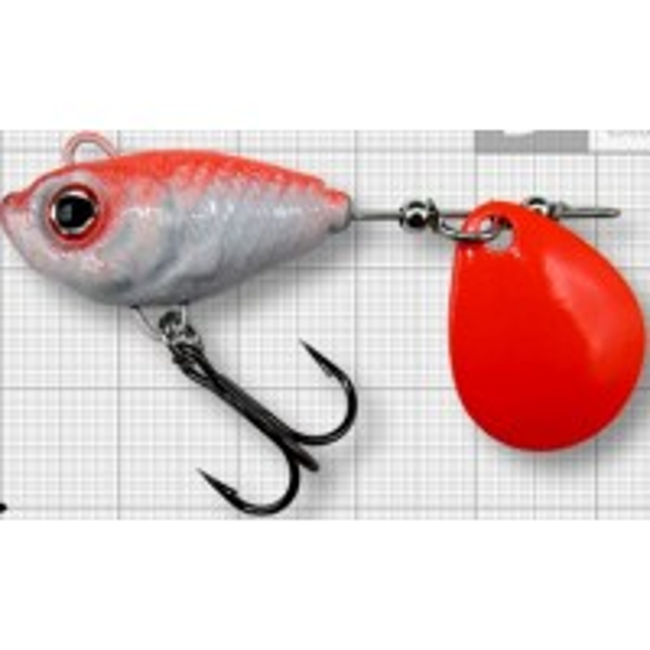 Spinnertail Berti Fish Helic Fluo, Colorado, Culoare Red Back, Nr.4, 17g