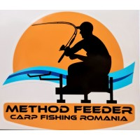 Sticker Method Feeder Carp Fishing Romania, 13x14cm