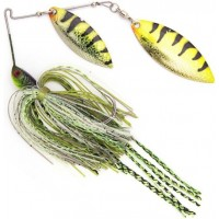 Spinnerbait Stanley Jigs VibraShaft Spinnerbait, Watermelon Grey Green, 14g