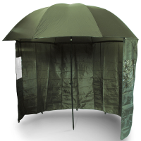 Umbrela cu Paravan NGT Green Fishing Brolly, Ø=220cm