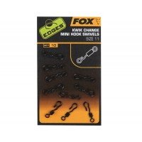 Vartej cu Agrafa Rapida FOX Mini Hook Swivels, Nr.11, 10buc/plic