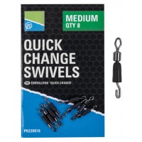 Vartej cu Agrafa Rapida Preston Quick Change Swivels, 8buc/plic