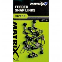 Vartej cu Margea Culisanta si Agrafa Matrix Feeder Bead Snap Links, 10buc/plic