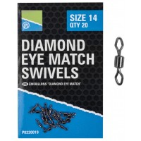 Vartej Preston Diamond Eye Match Swivels, 20buc/plic