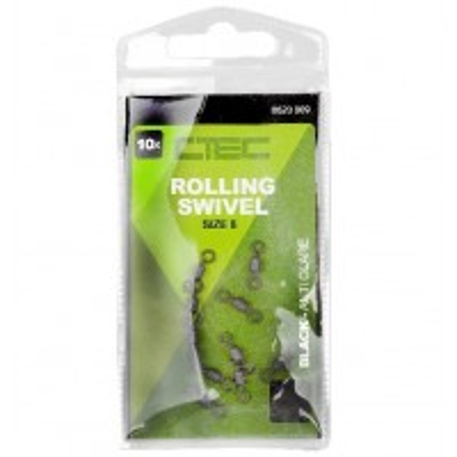 Vartej Spro C-TEC Cilindric Rolling Swivel Non Reflect, 10bucplic