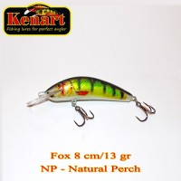 Vobler Kenart Fox Floating, Natural Perch, 8cm, 13g