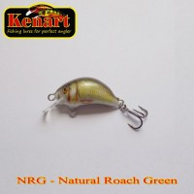 Vobler Kenart Hunter Floating, Natural Roach Green, 3cm, 2.5g