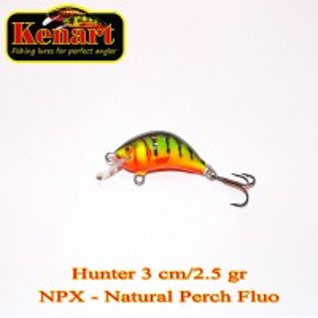 Vobler Kenart Hunter Natural Perch Fluo 3cm 2.5g