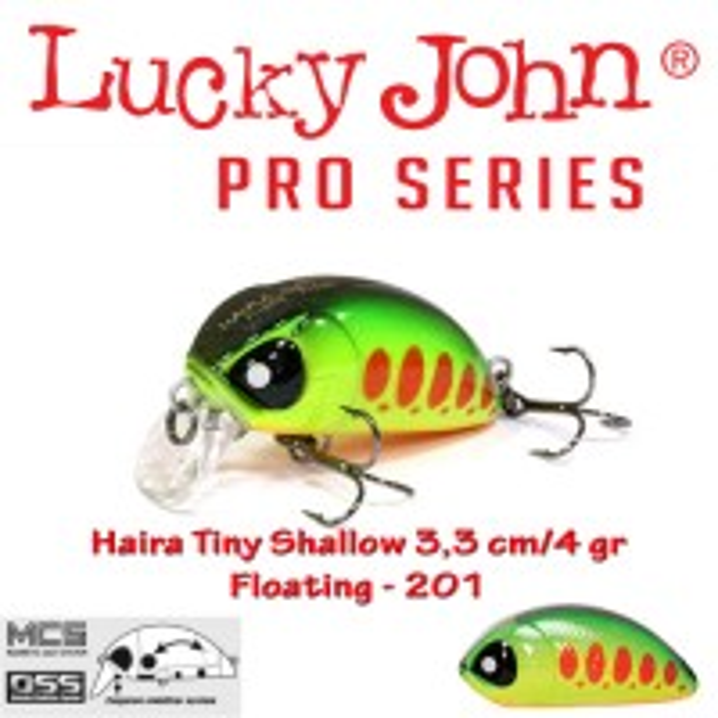 Vobler Lucky John Haira Tiny Shallow 33F 3.3cm 4g 201